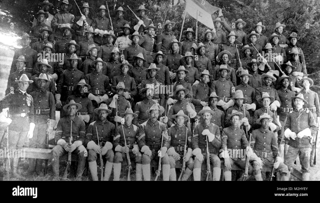 Philippine-American War, Buffalo Soldiers, 9th Cavalry - Stock Image