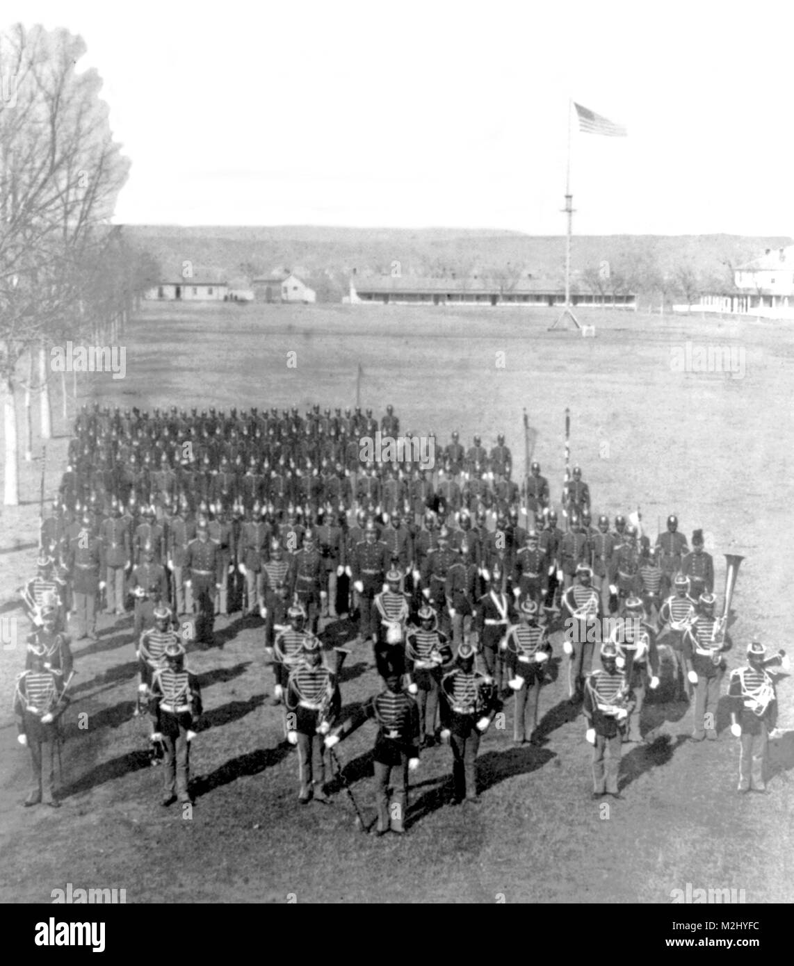 Buffalo Soldiers, 25th Infantry, Dakota Territory, 1882 - Stock Image