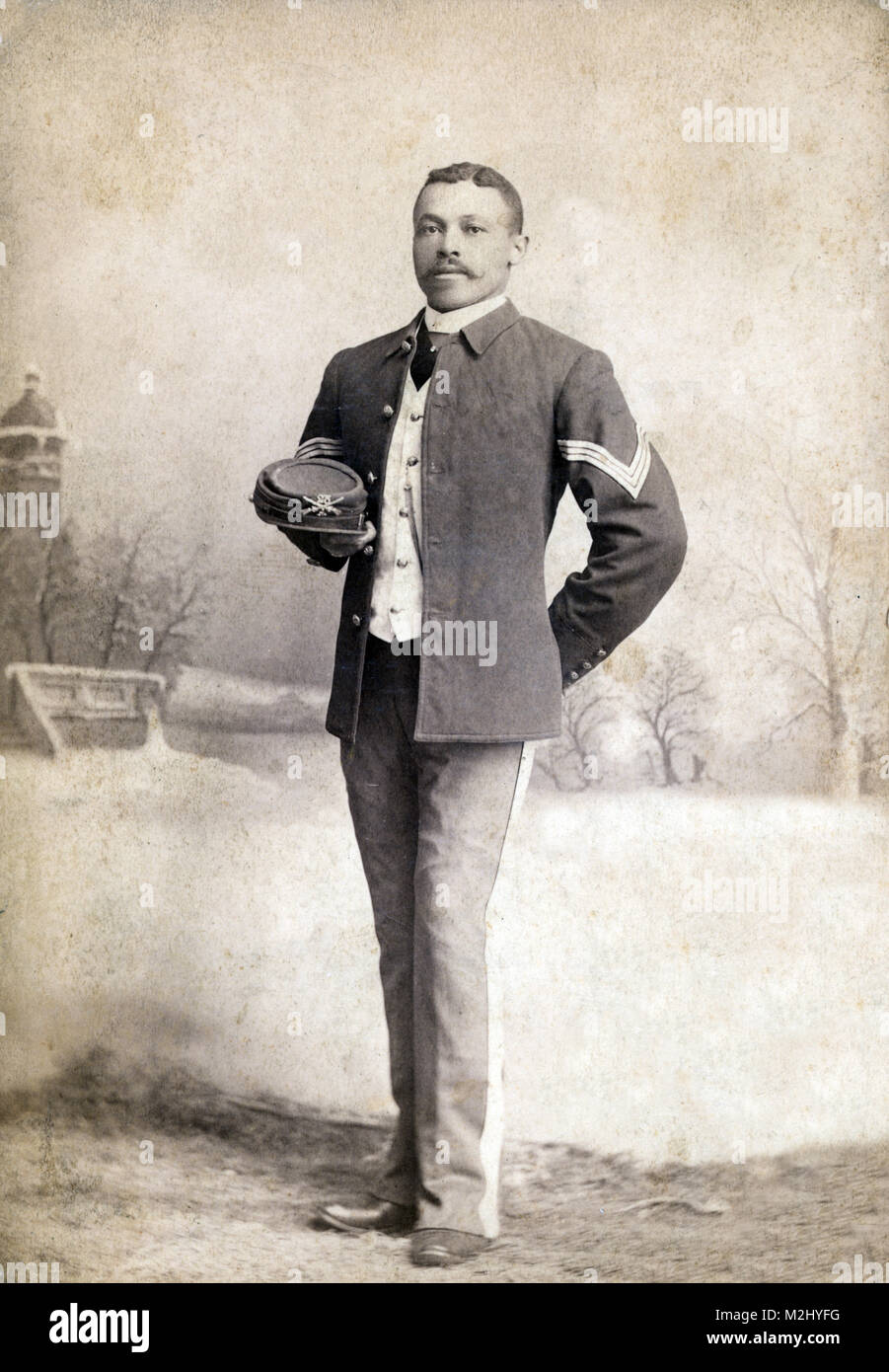 Buffalo Soldier, 25th Infantry Regiment, 1880s - Stock Image