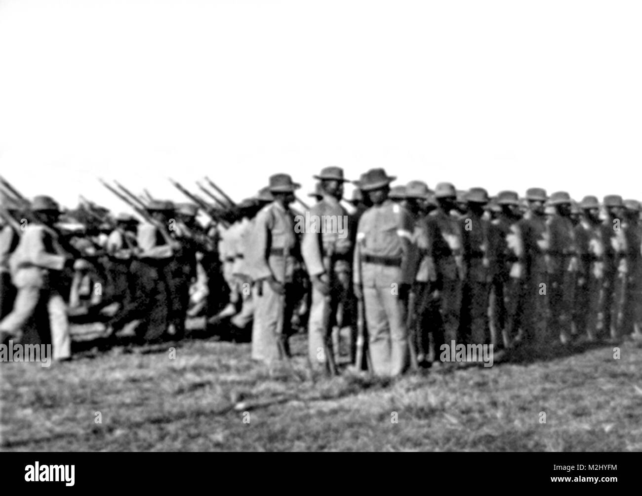 Philippine-American War, Buffalo Soldiers, 1902 - Stock Image