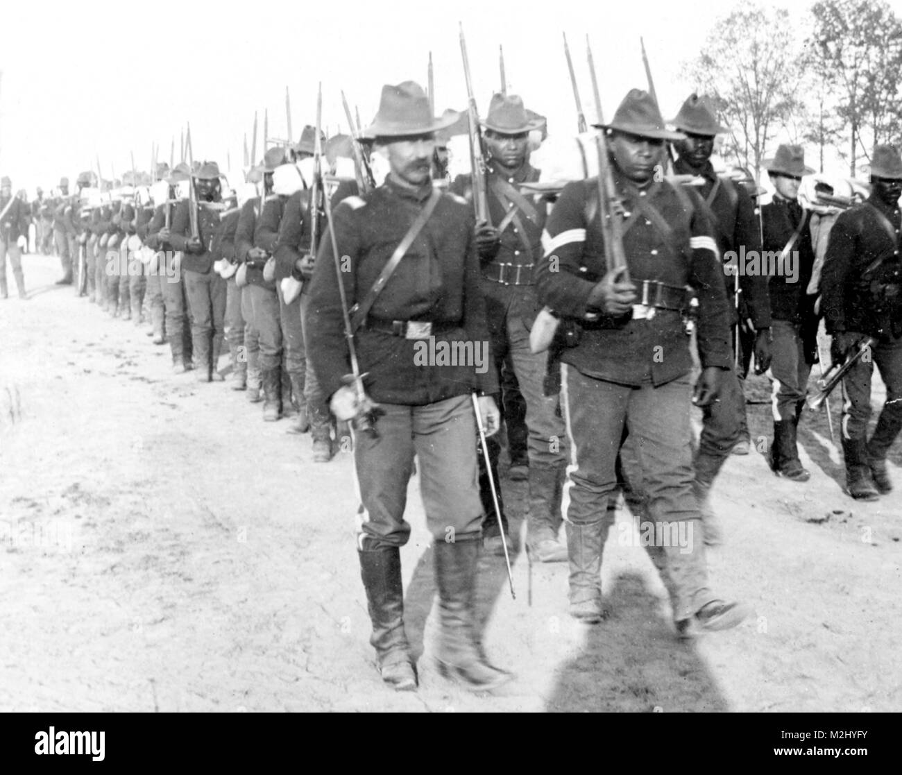 Spanish-American War, Buffalo Soldiers, 24th Infantry, 1898 - Stock Image