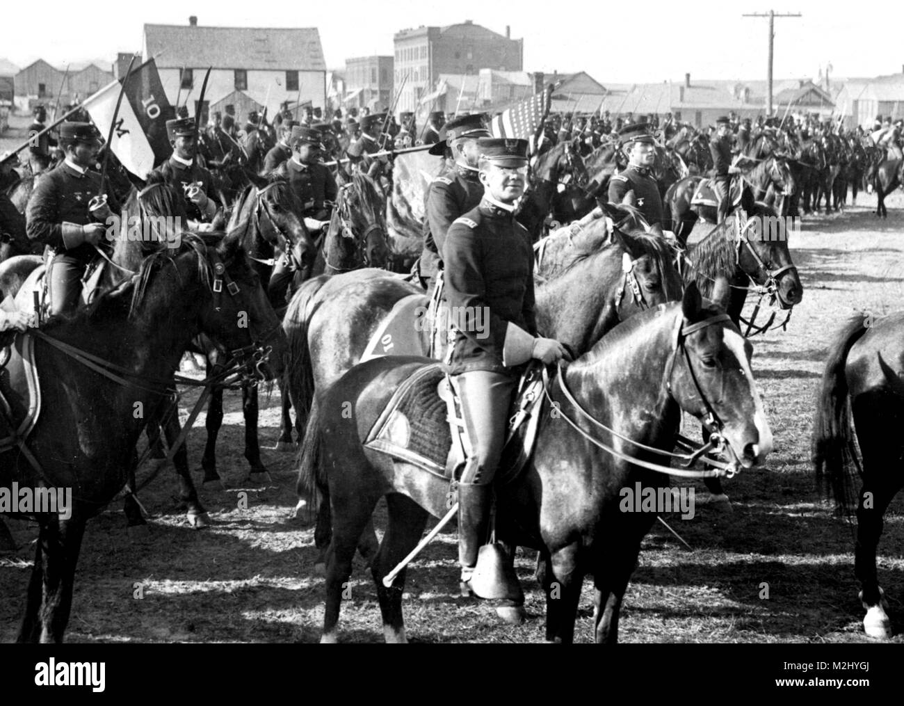 Buffalo Soldiers, 10th Cavalry Regiment, 1903 - Stock Image