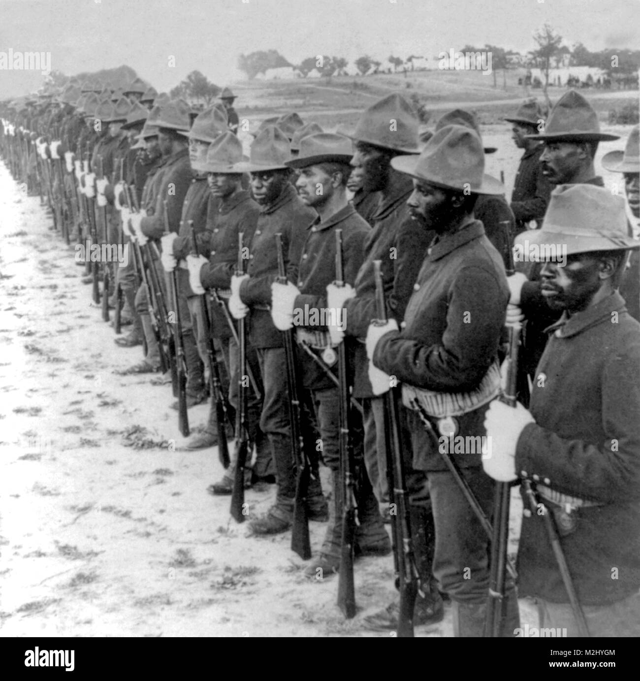 Spanish-American War, Buffalo Soldiers, 10th Cavalry, 1899 - Stock Image