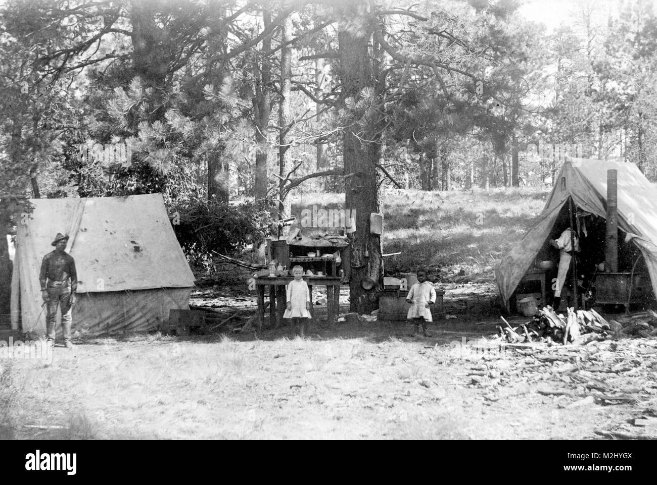 Buffalo Soldier Camp, 10th Cavalry Regiment - Stock Image