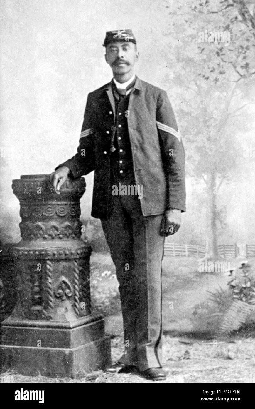 John Denny, Buffalo Soldier, Medal of Honor Recipient - Stock Image