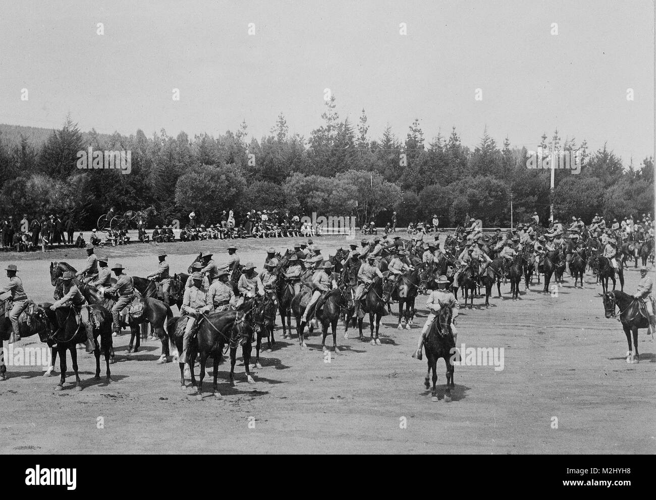 Buffalo Soldiers, 9th Cavalry Regiment, 1900 - Stock Image