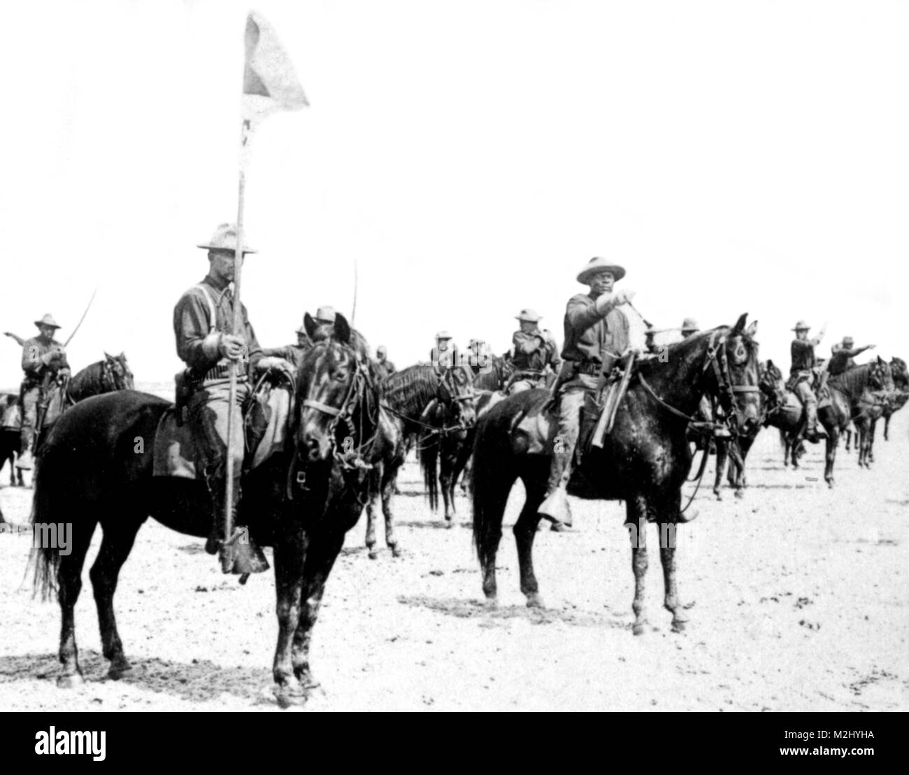 Spanish-American War, Buffalo Soldiers, 9th Cavalry, 1898 - Stock Image