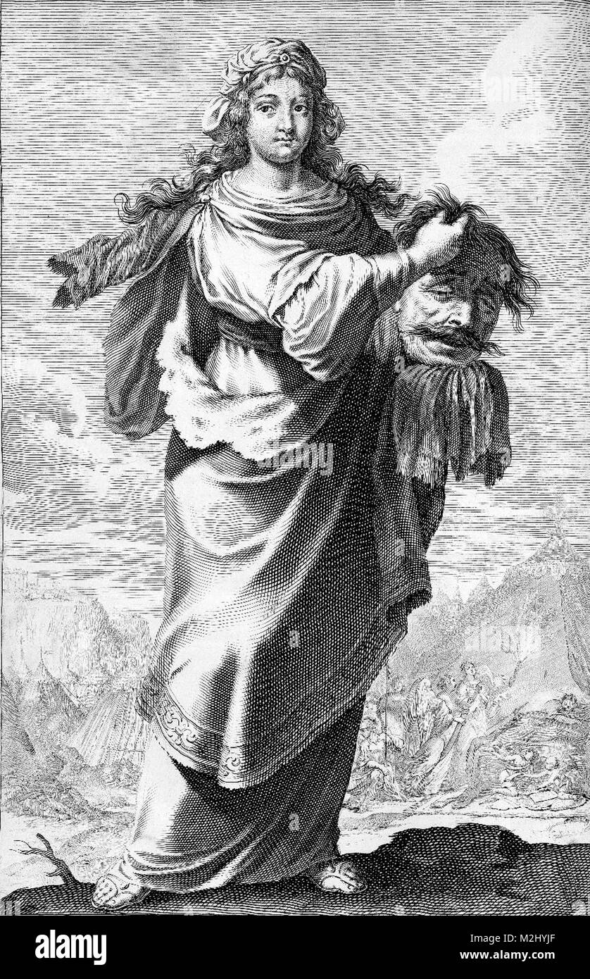 Judith with Holofernes' Head - Stock Image