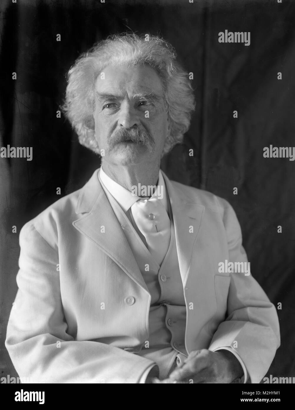 Mark Twain, American Author and Humorist - Stock Image