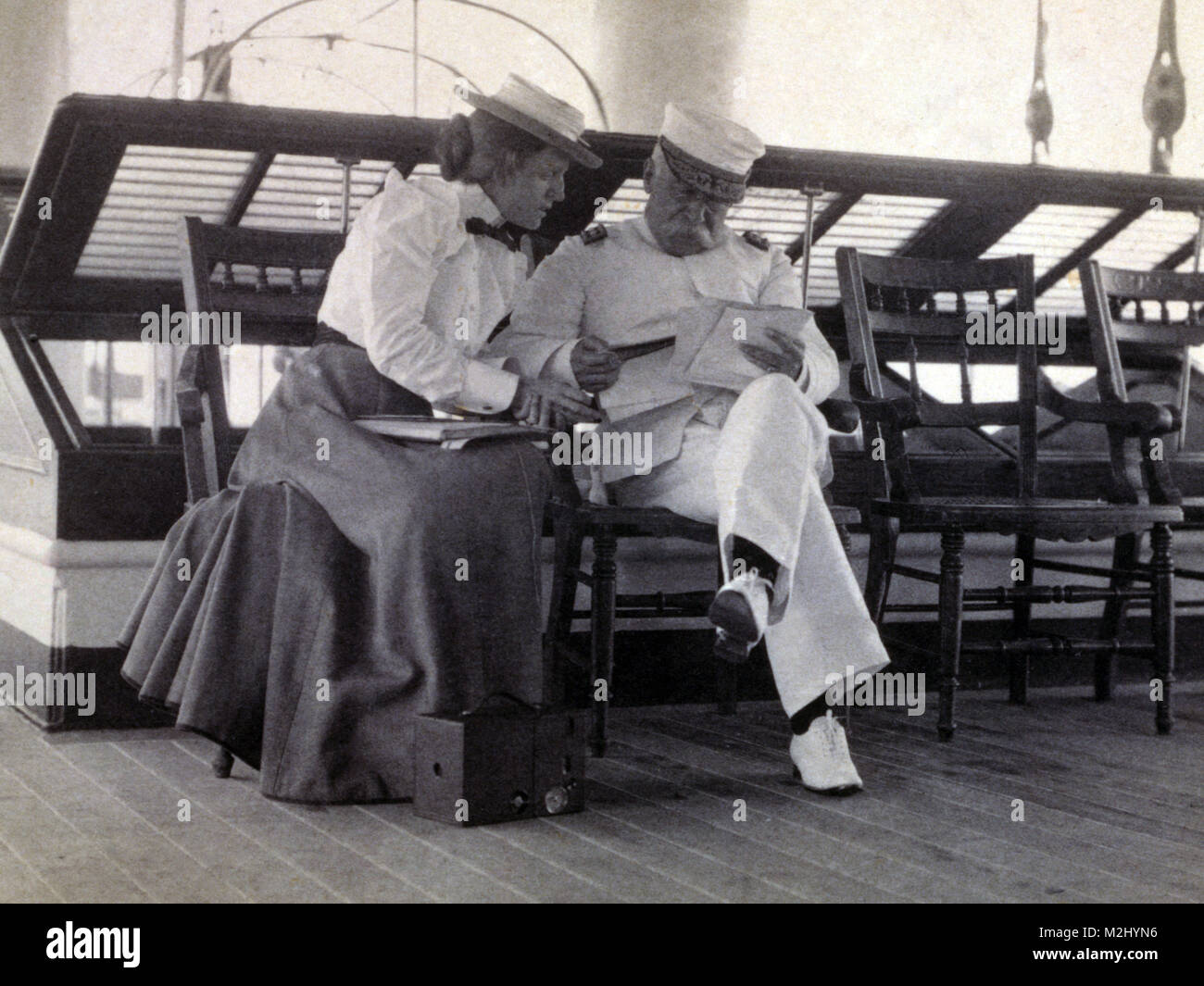Frances Johnston and Admiral George Dewey, 1899 - Stock Image