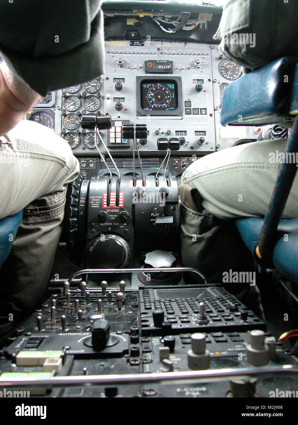 Lt. John Alcorn and Marine Major Jack 'Sparky' Landreth pilot the c12b out of Norfolk Description: Twin - Stock Image