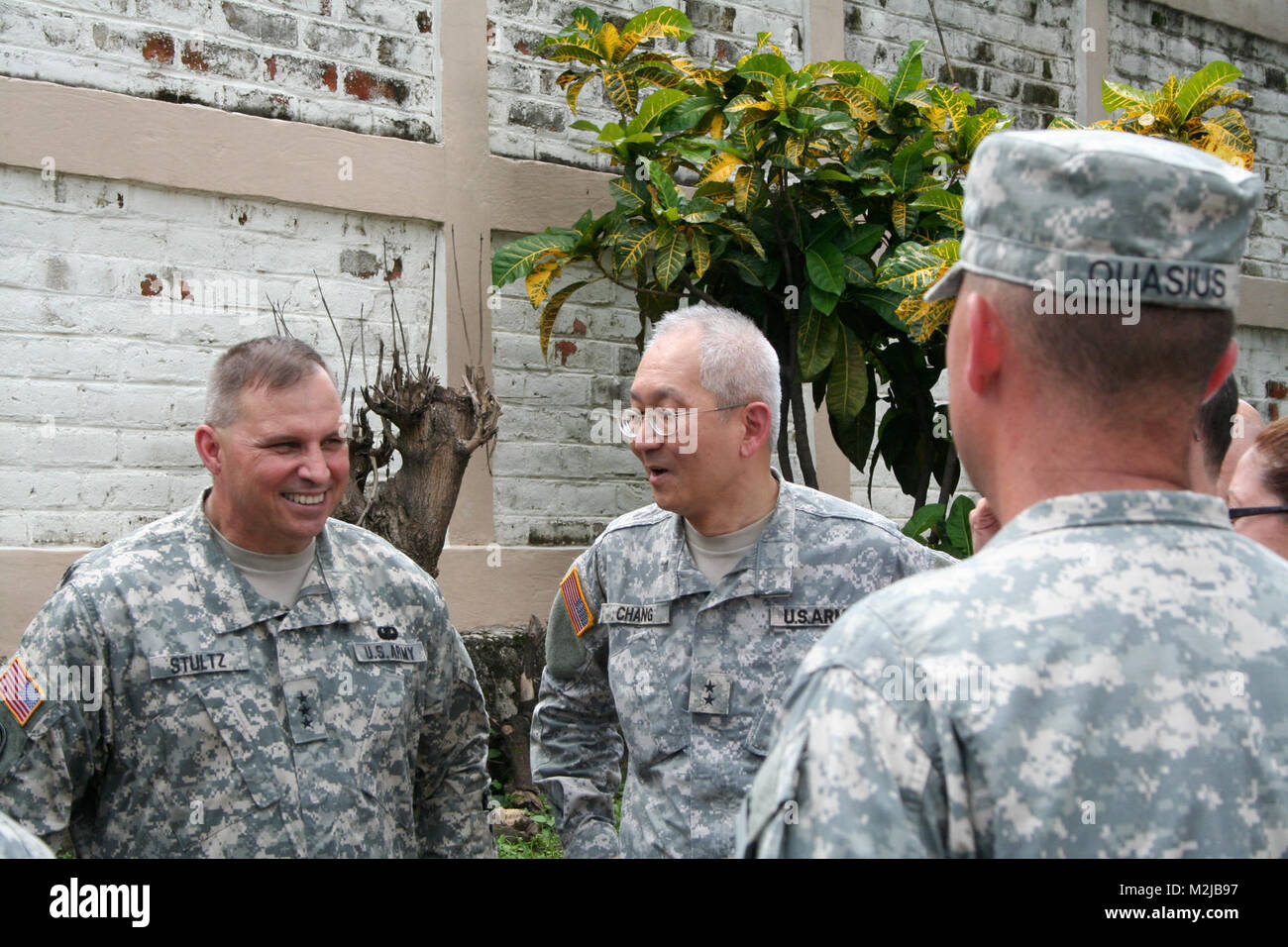 Lt. Gen. Jack C. Stultz, Chief, Army Reserve and Maj. Gen. Lie-Ping Chang, Commander, 807th Medical Command (Deployment - Stock Image
