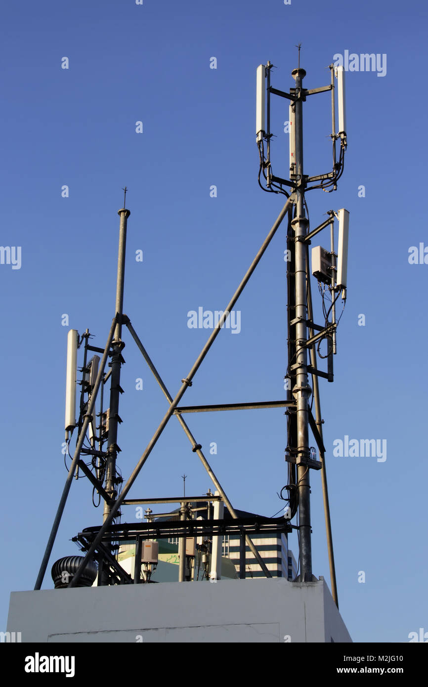 4G Cell site, Telecom radio tower or mobile phone base