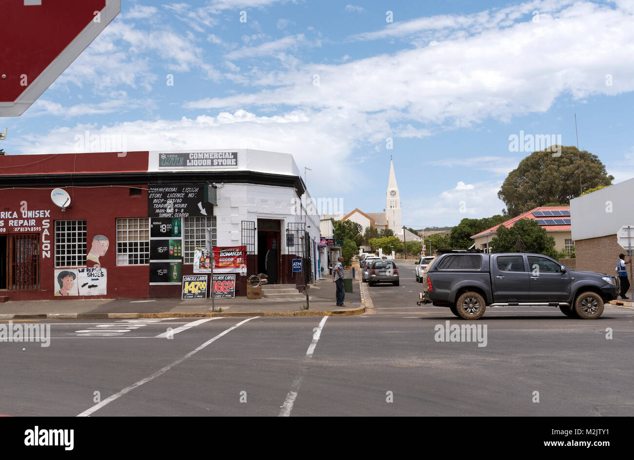 Town centre of Darling in the Western Cape region of South Africa - Stock Image