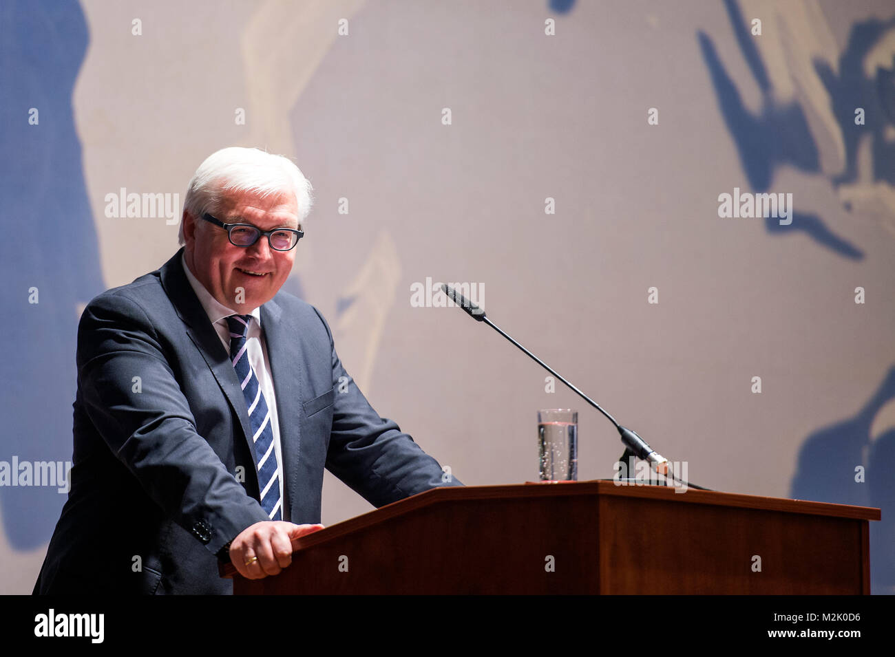German Minister for Foreign Affairs, Frank-Walter Steinmeier (SPD) presided the handover ceremony of the outgoing - Stock Image