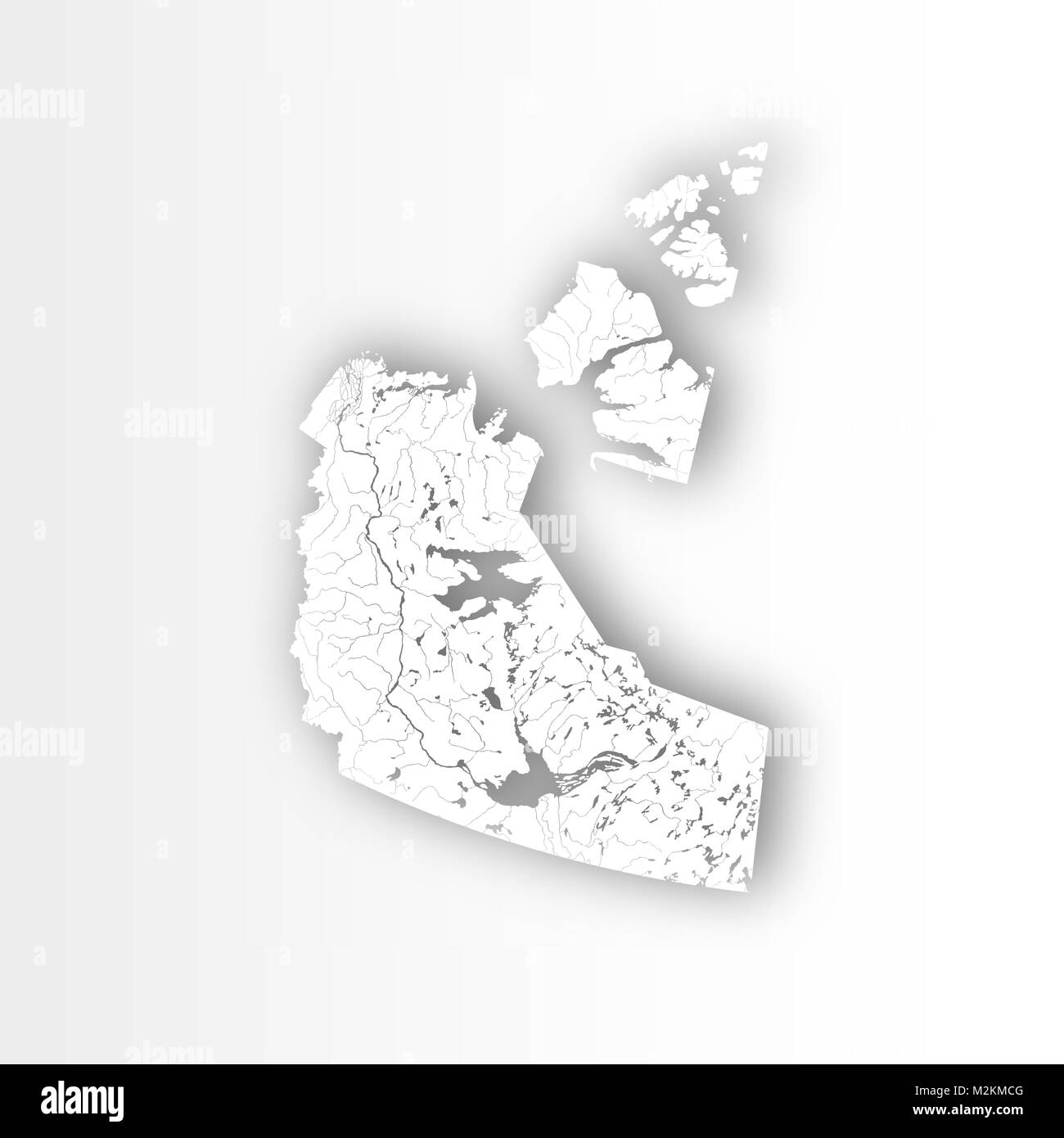 provinces and territories of canada map of northwest territories with paper cut effect rivers and lakes are shown please look at my other images o