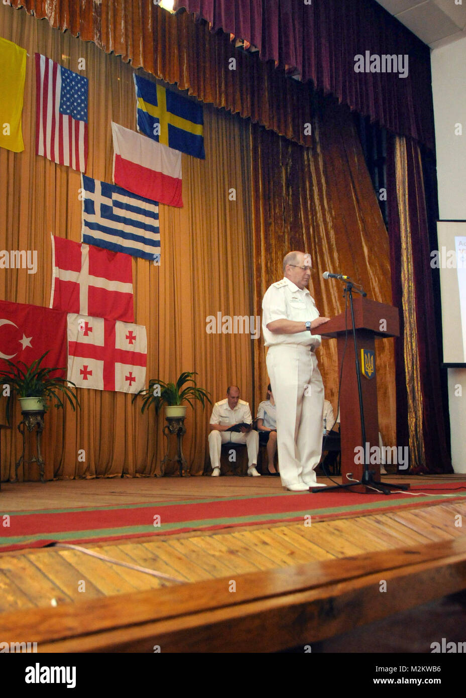 100712-N-6138K-047 ODESSA, Ukraine (July 12, 2010)—Ukranian Vice Adm. Viktor Maksimov, commander and chief of Ukranian - Stock Image