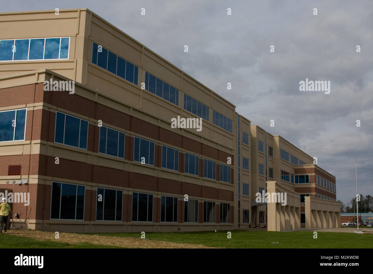 The Sustainment Center of Excellence building at Fort Lee, Va. is nearing completion. The building will be the equivalent - Stock Image