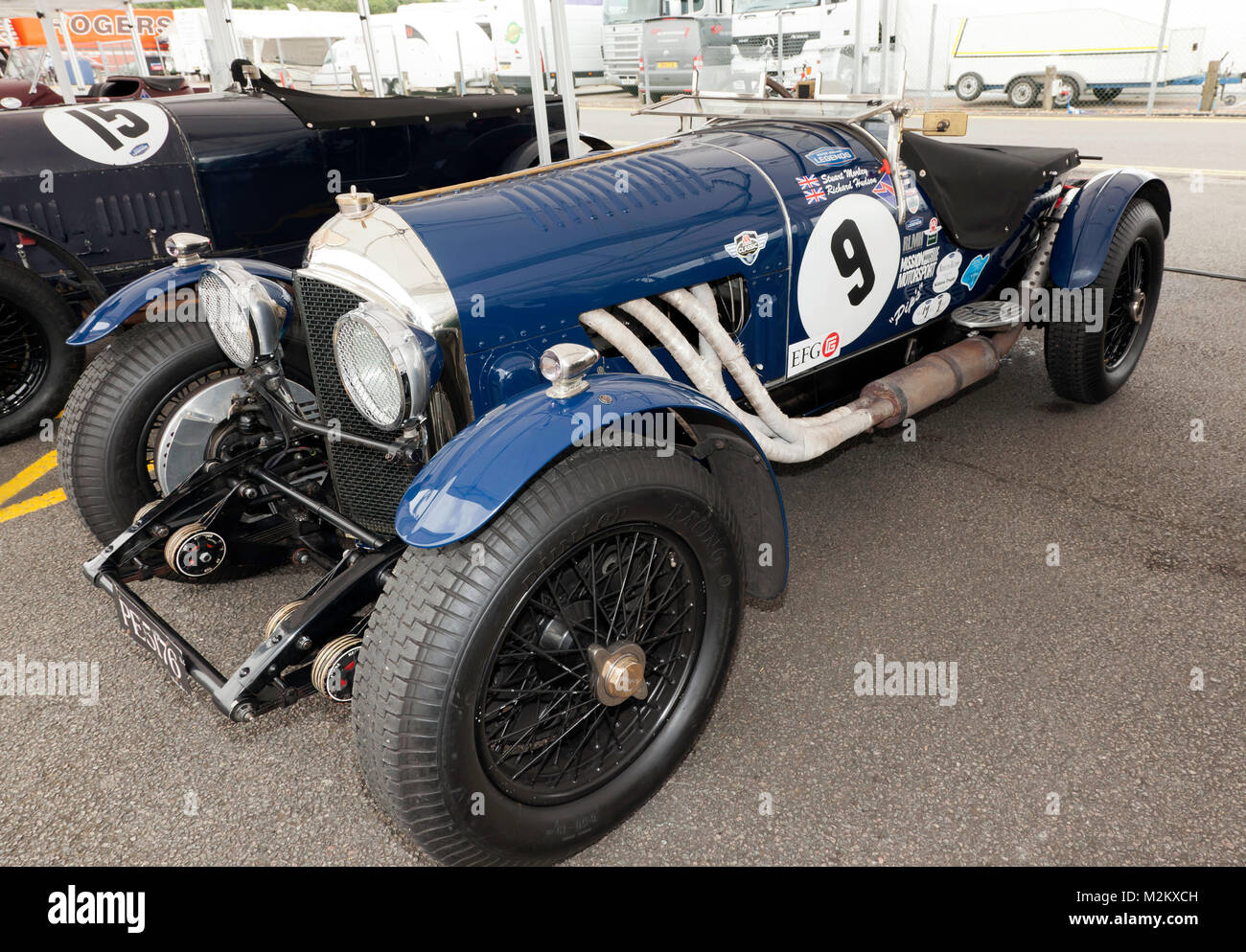 A Beautiful 1925, Bentley 3/4.5 Sports Car, competing in the Kidson Trophy for Pre War Sports Cars, at the 2017 Silverstone Classic Stock Photo