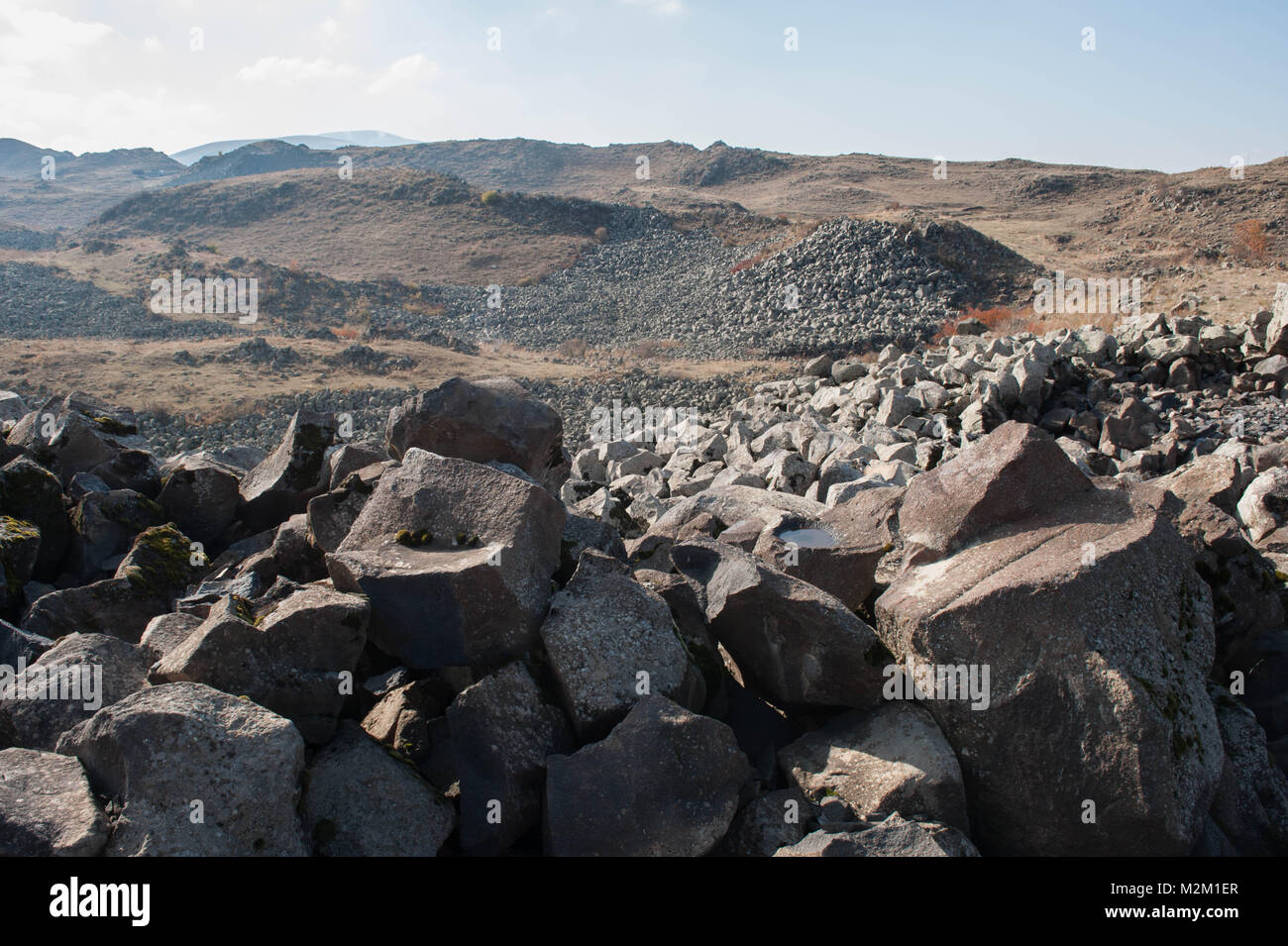 Urartu  also known as Kingdom of Van was an Iron Age kingdom centred on Lake Van in the Armenian Highlands. - Stock Image