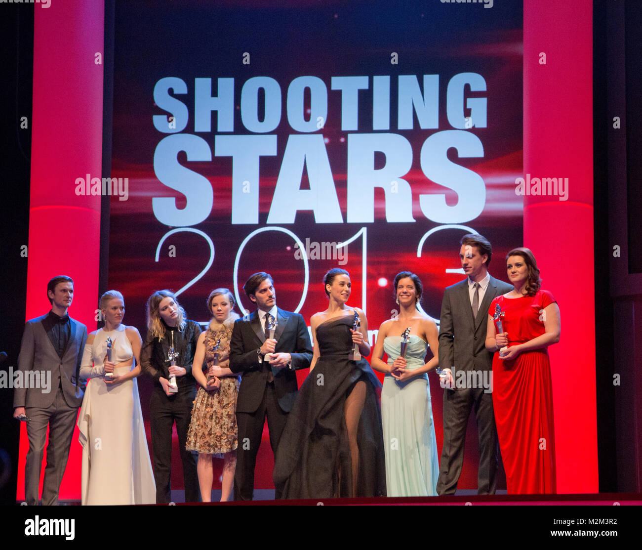 63. Internationale Filmfestspiele Berlin, Berlinale 2013, am 11.02.2013: Verleihung der Shooting Stars Awards 2013 - Stock Image