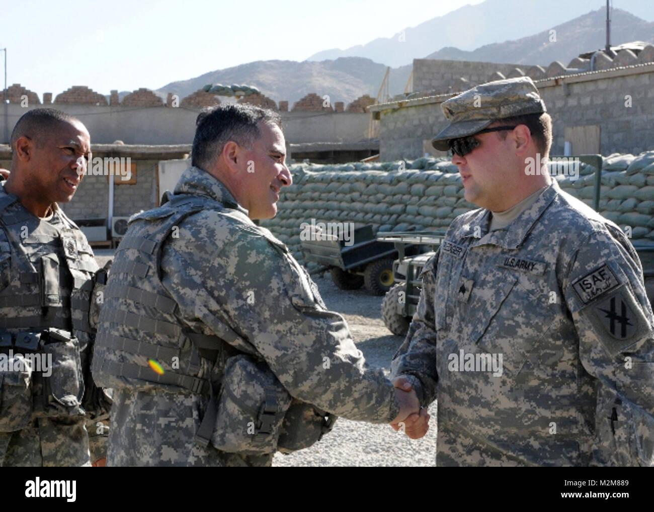 091224-A-3421S-097: NANGARHAR PROVINCE, Afghanistan (Dec. 24, 2009) – U.S. Army Sgt. Adam W. Pledger, Troop A, 1st - Stock Image