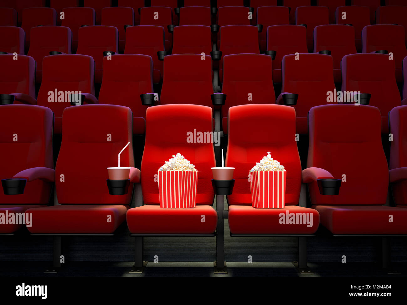 3D render representing the concept of reserved seats. - Stock Image