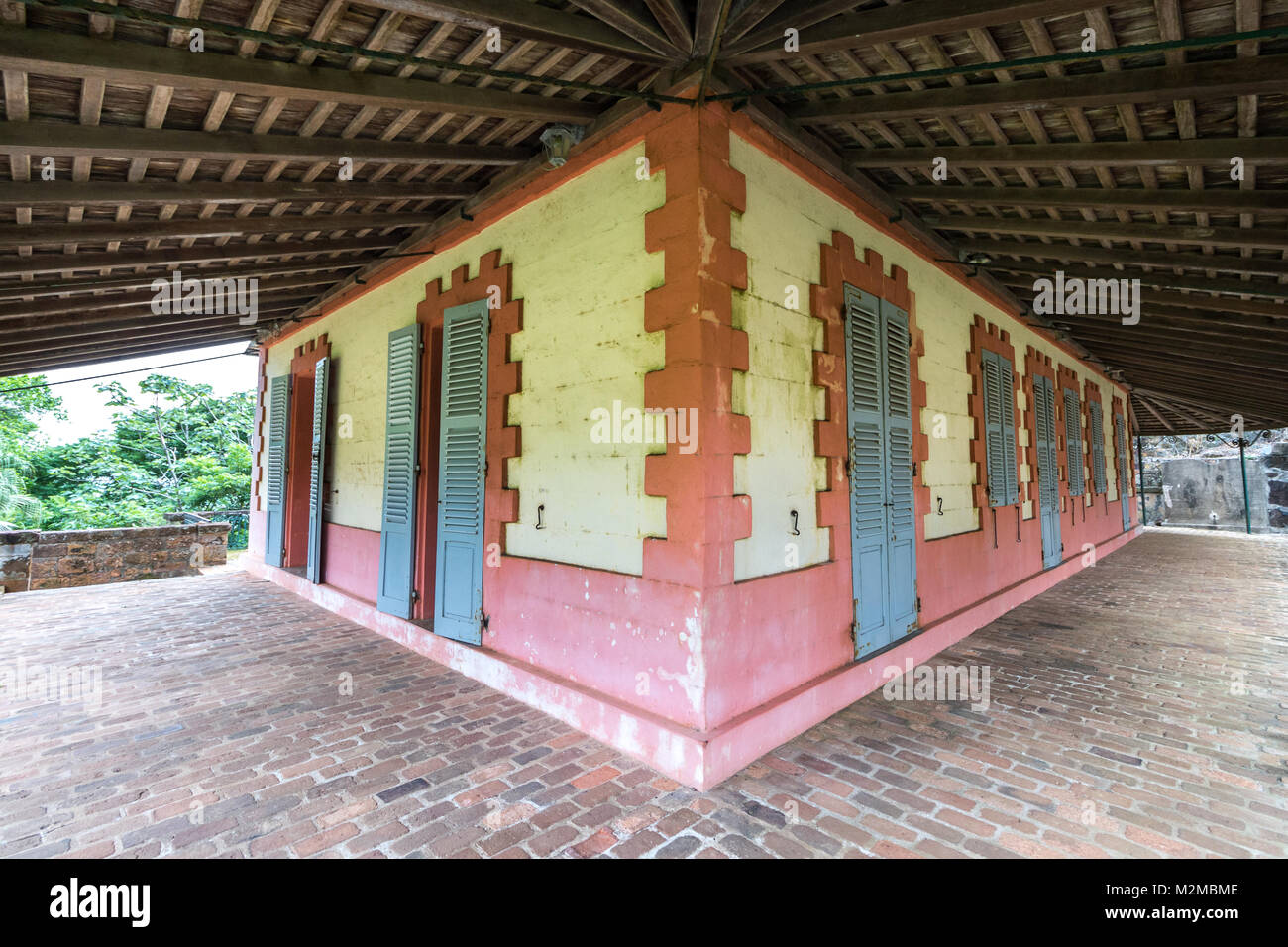 The Supervisor Residences at Ile Royale, Salvation's Islands, French Guiana. - Stock Image