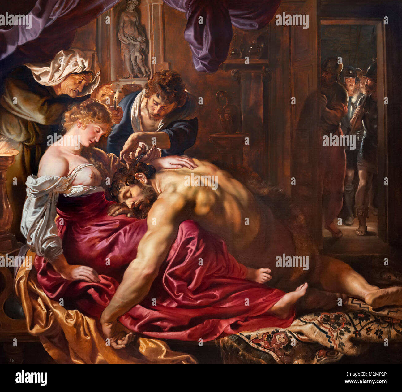 Samson and Delilah by Peter Paul Rubens (1577-1640), oil on wood, 1609/10 - Stock Image