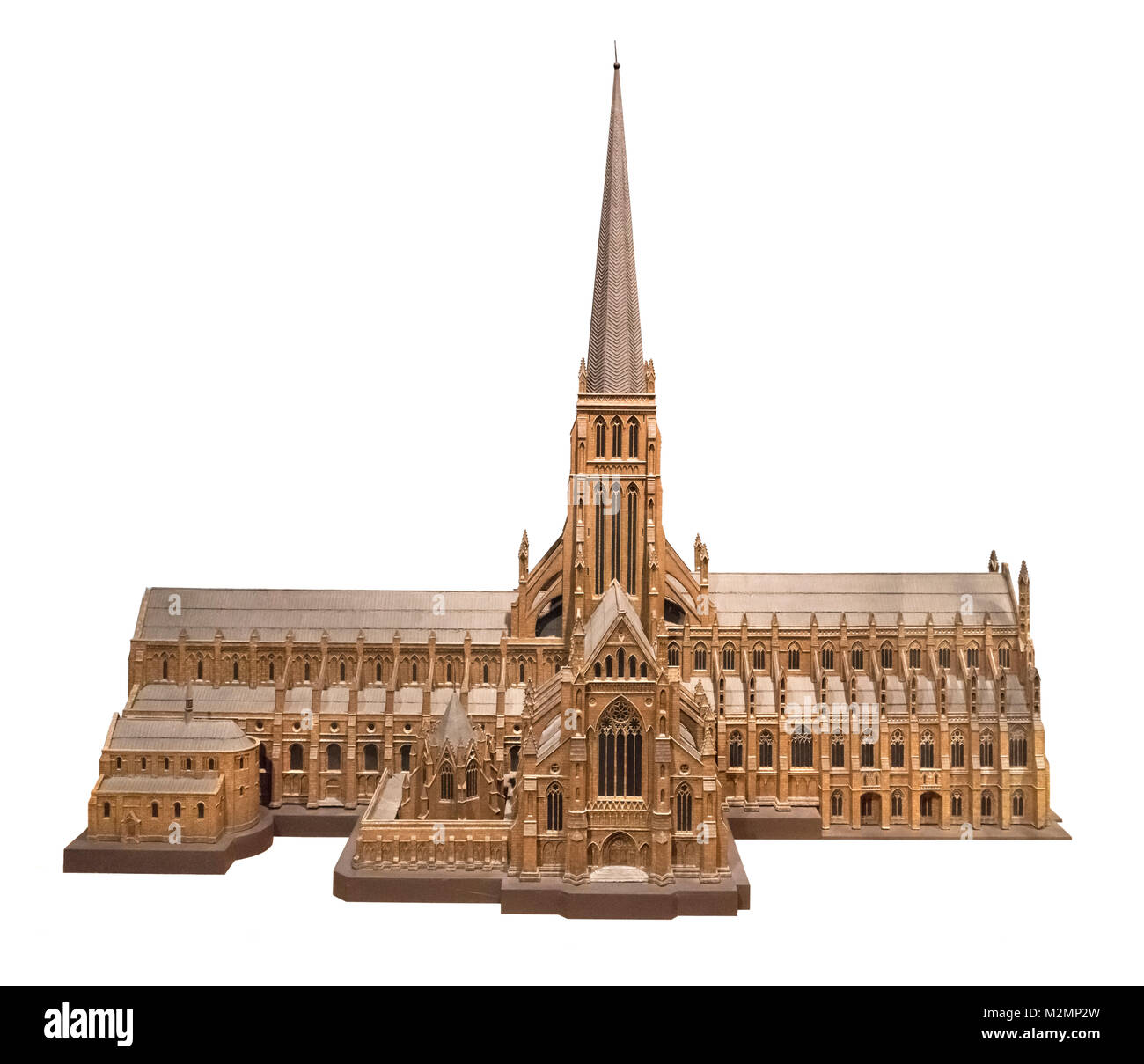 Model of Old St Paul's Cathedral, London, which was completed in 1320 and destroyed in the Great Fire of London - Stock Image