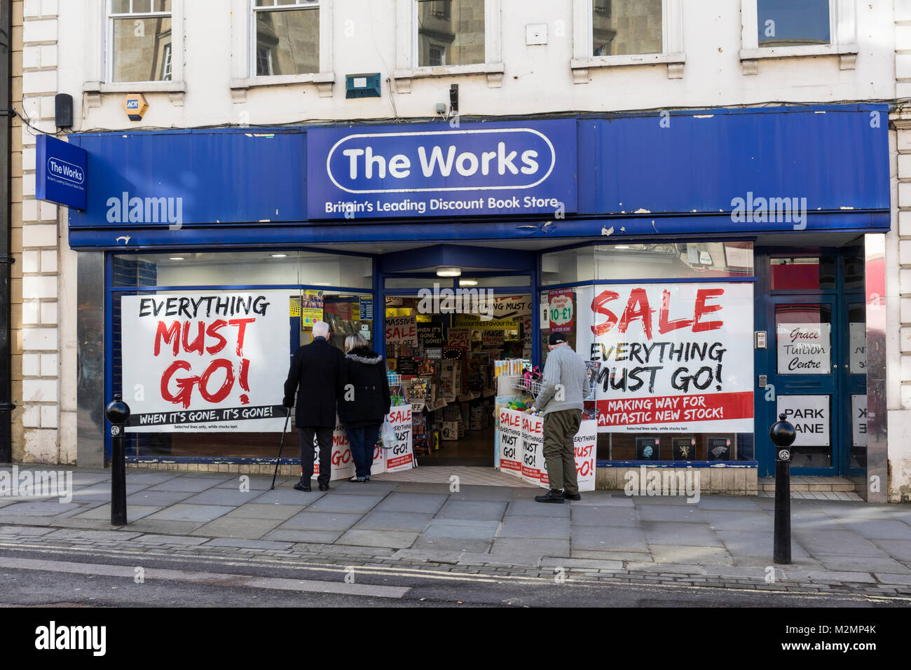 The Works Book Store, Chippenham, Wiltshire, England - Stock Image