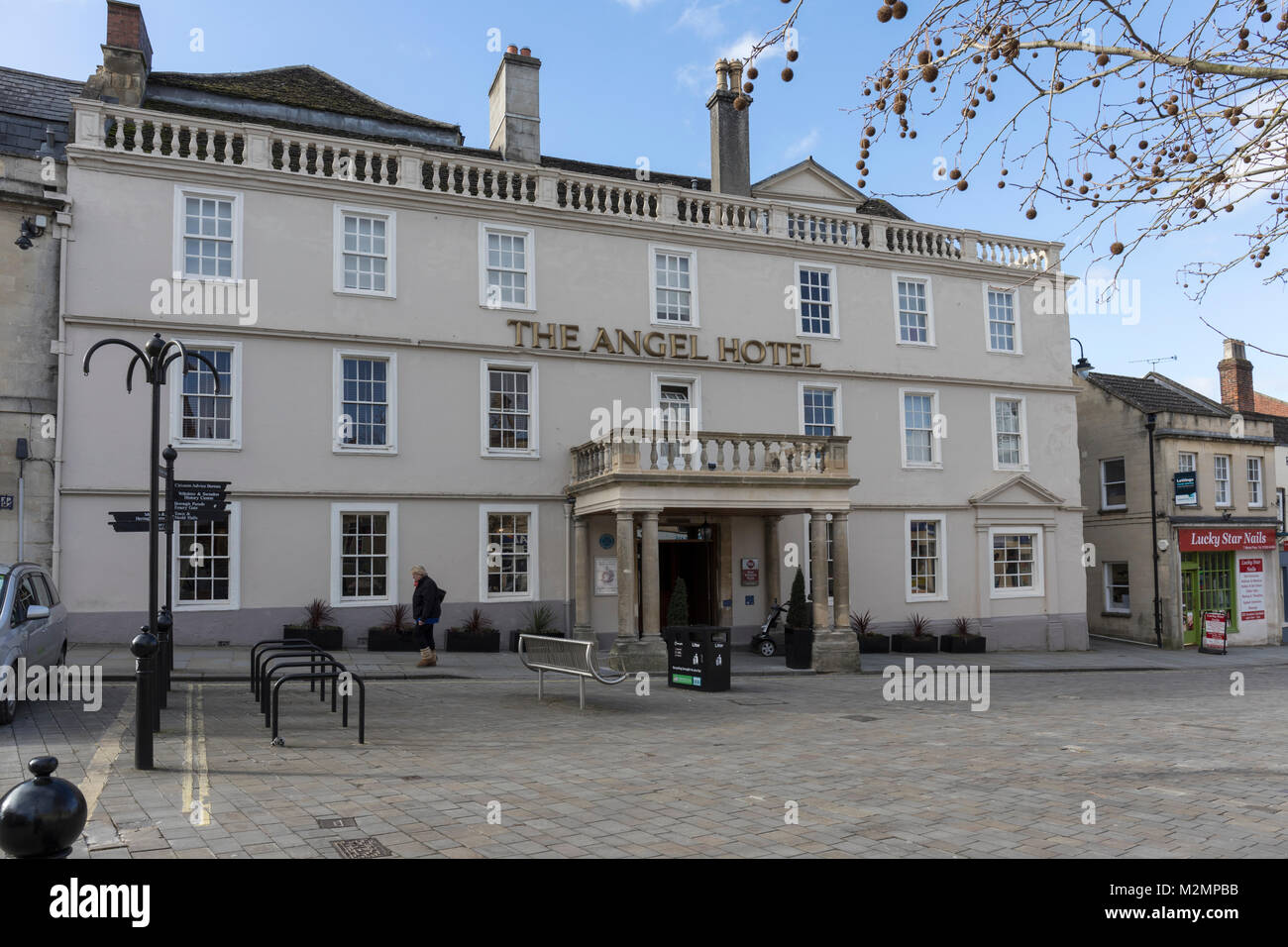 The Angel Hotel, Chippenham, Wiltshire, England - Stock Image