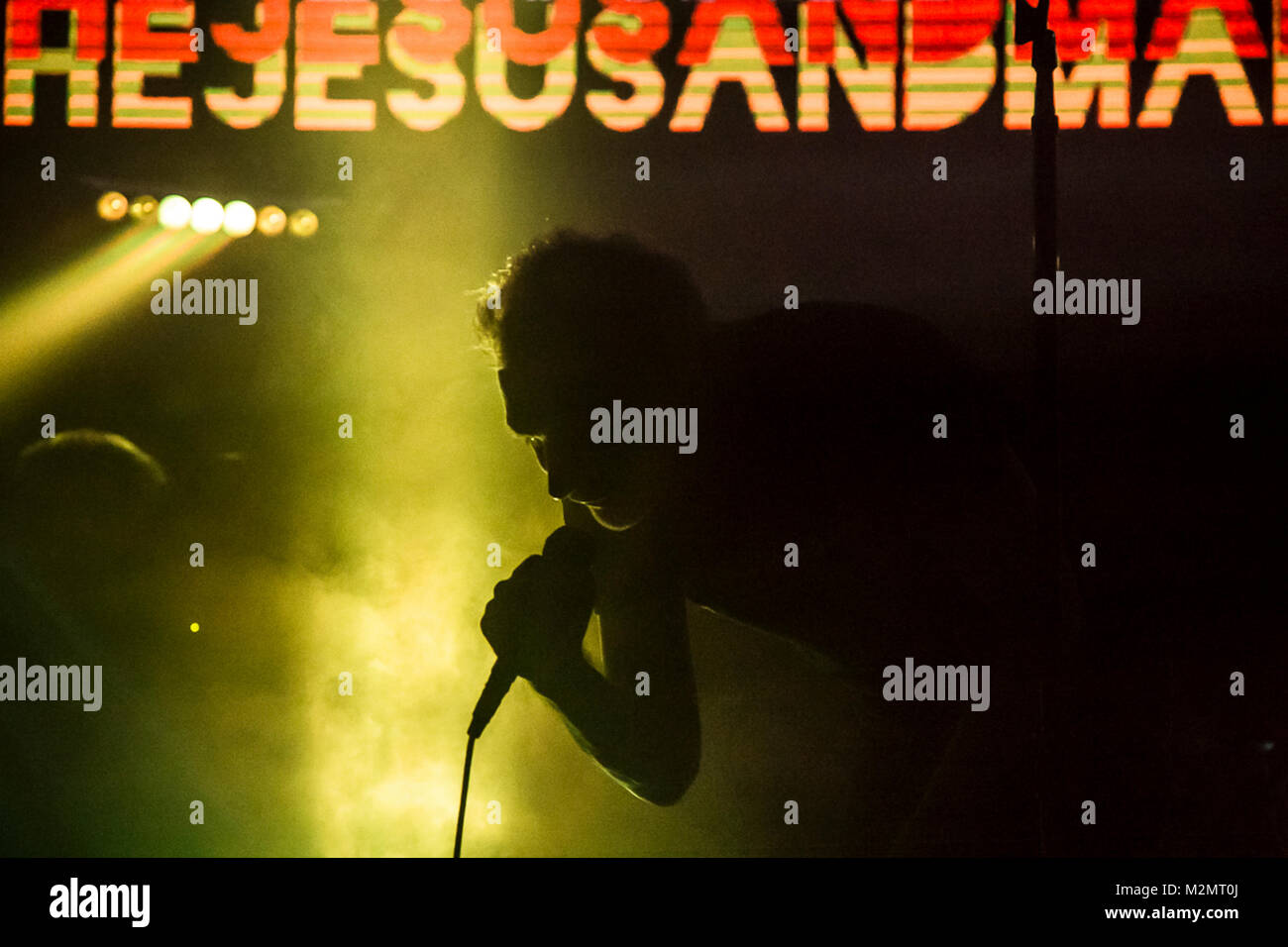 The Jesus And Mary Chain perform at Cloak and Dagger Fest in downtown Los Angeles, CA, USA - Stock Image