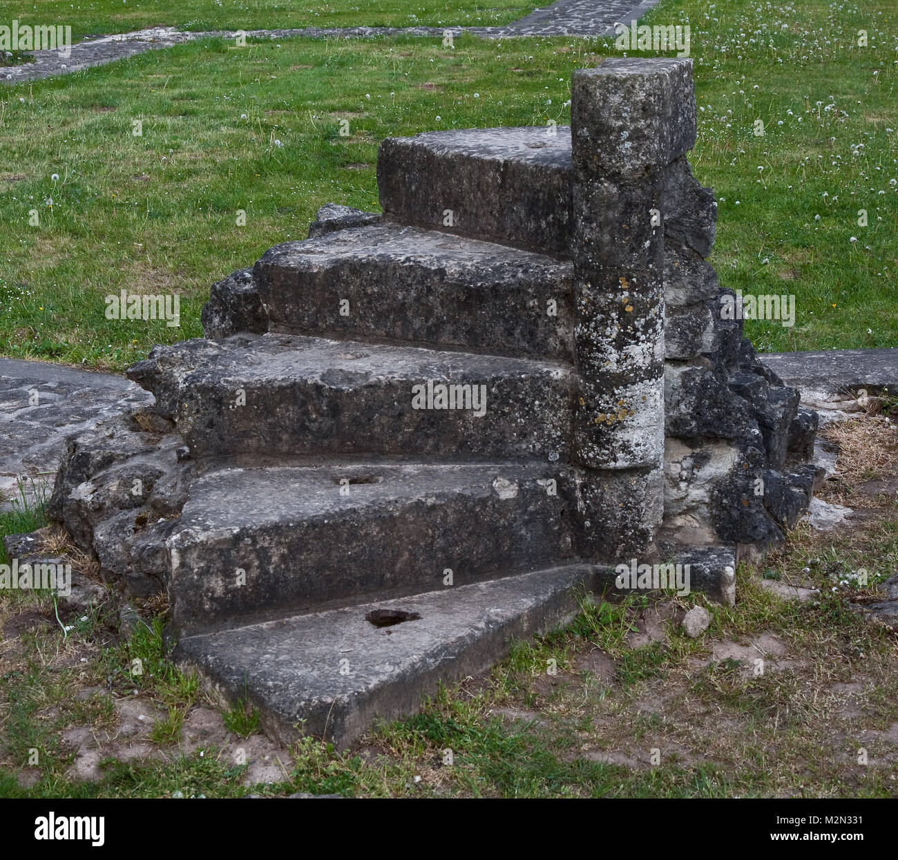 Walkenried Ruine der Klosterkirche Rest einer Wendeltreppe im Bereich der Vierung - Stock Image