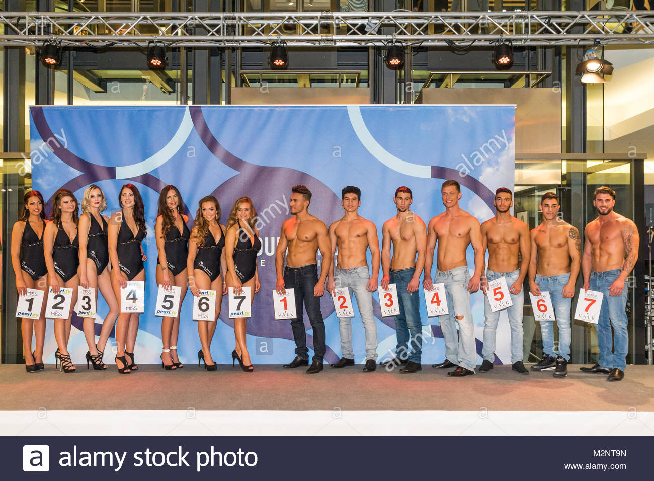 lisa-maria rothenberg (car number 5) and sercan korkut (car number 5) finished 1 in the miss & mister berlin - Stock Image
