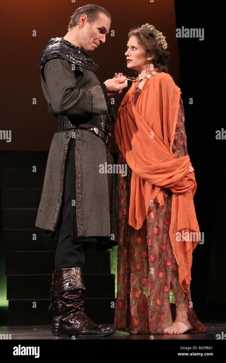 Durchlaufprobe 'Robin Hood', Altonaer Theater, 03.09.2010, Hamburg,  ab 03.09.2010 wird Jasmin Wagner im - Stock Image