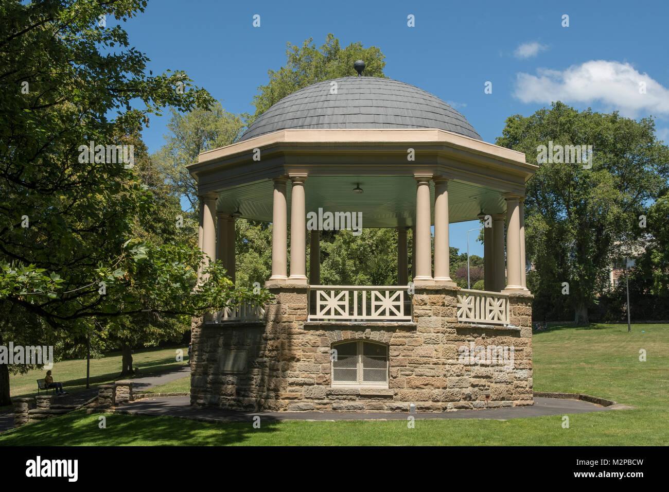 Bandstand in St David's Park, Hobart, Tasmania, Australia - Stock Image