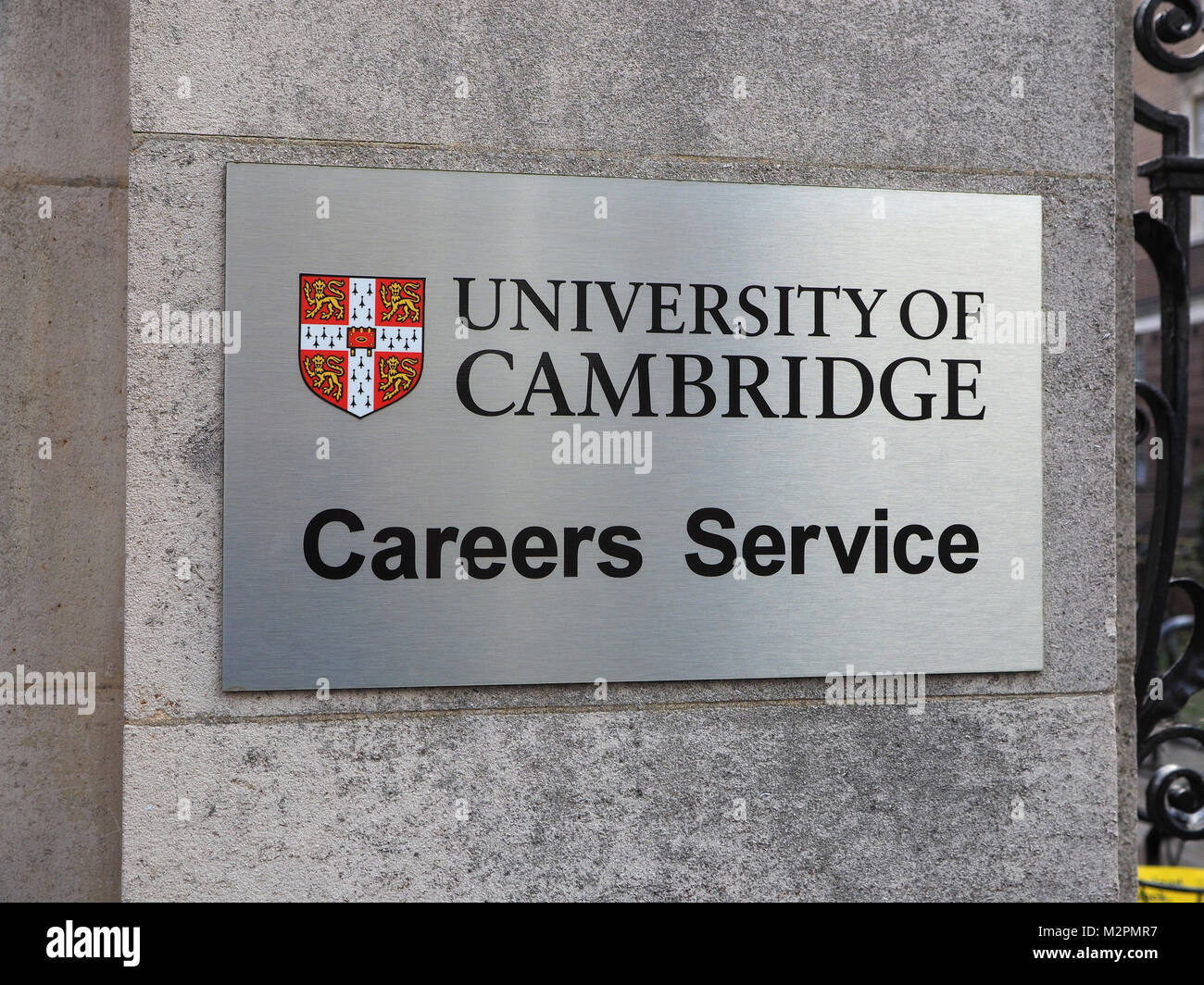 University of Cambridge Careers Service sign - Stock Image