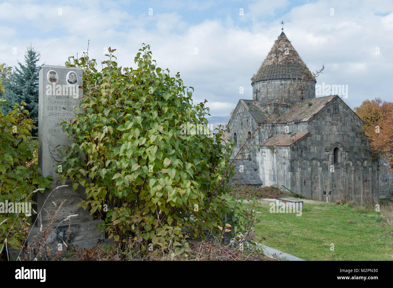 Haghpat and Sanahin is an Armenian monastery complex founded in the 10th century in the Lori Province of Armenia. - Stock Image