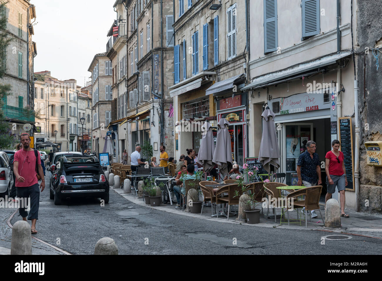 street in the old town of avignon vaucluse provence france stock photo 173845913 alamy. Black Bedroom Furniture Sets. Home Design Ideas