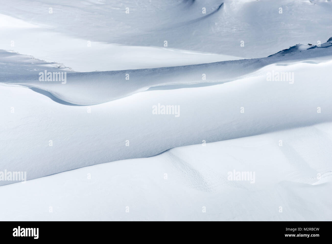 snowdrift in the alps. - Stock Image