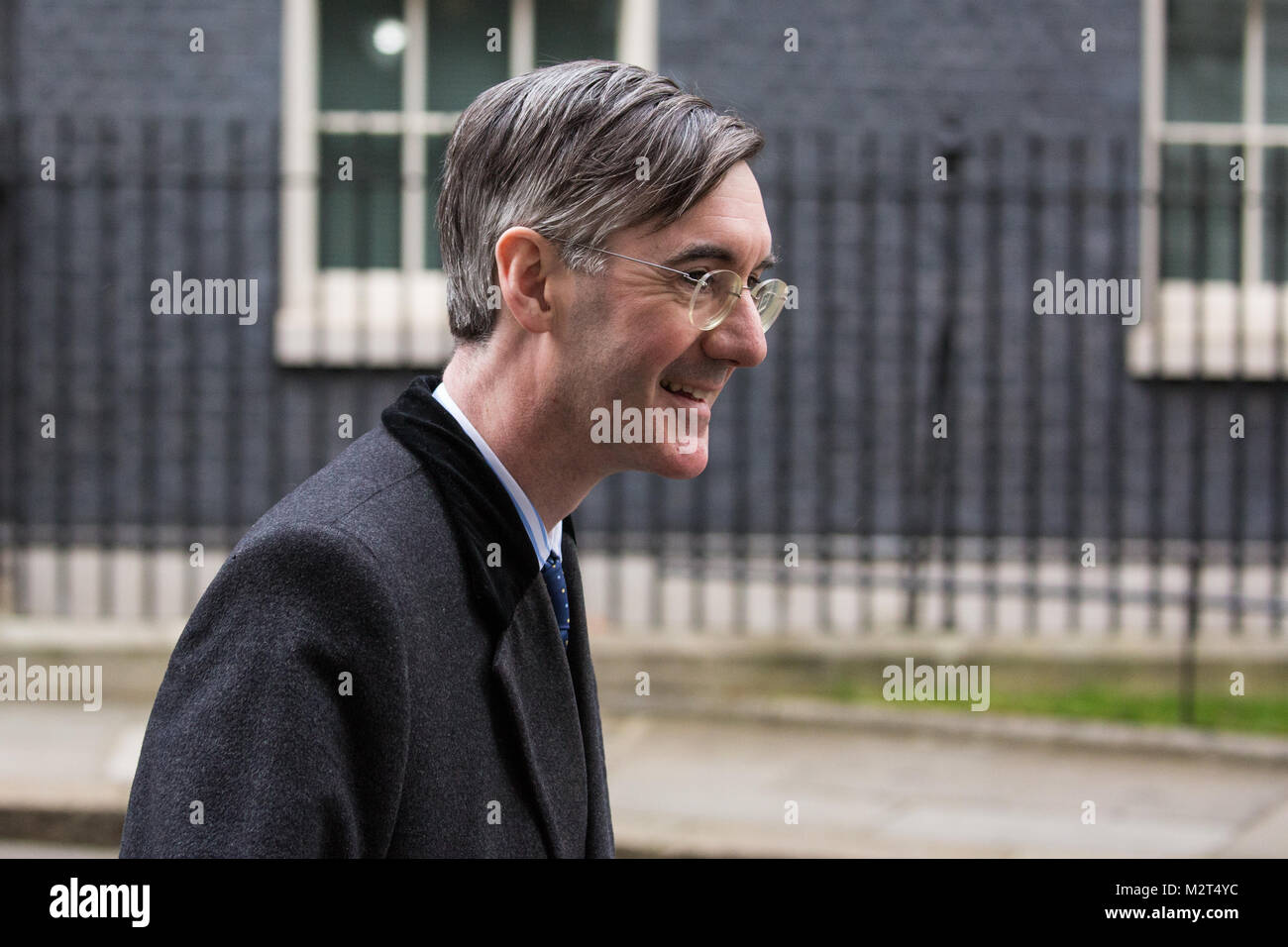 London, UK. 8th February, 2018. Jacob Rees-Mogg, Conservative MP for North East Somerset and a leading Brexiteer, - Stock Image