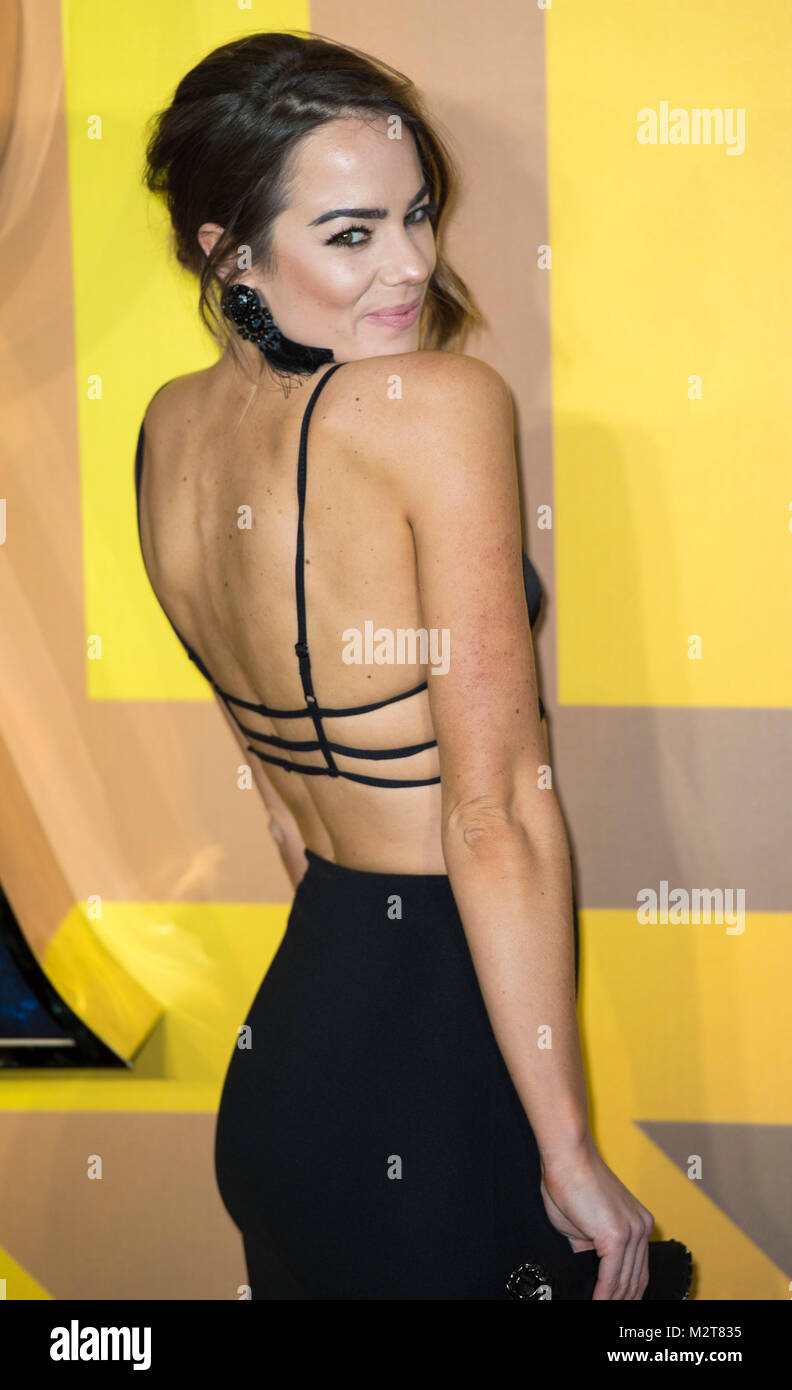 London, UK. 8th February, 2018. Emma Conybeare attends the European Premiere of Marvel Studios' 'Black Panther' - Stock Image