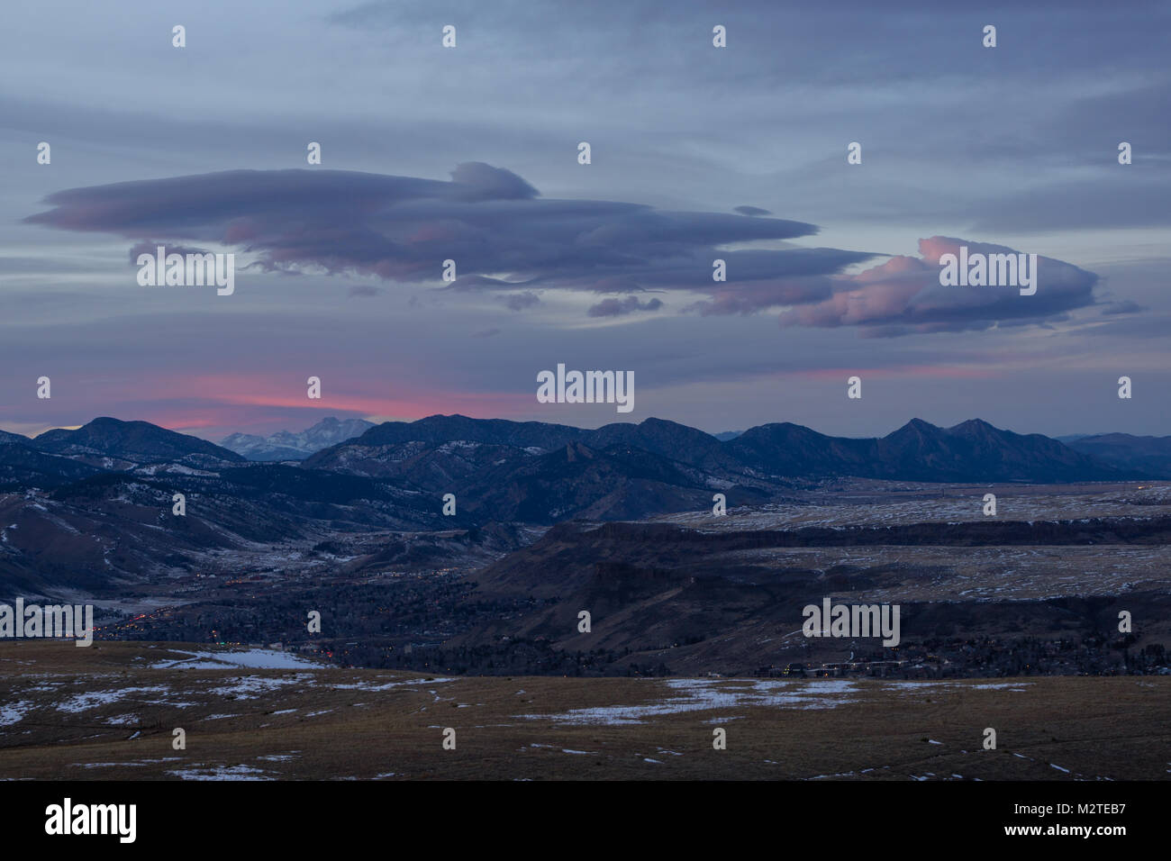 From atop Green Mountain, in Lakewood, Colorado. - Stock Image