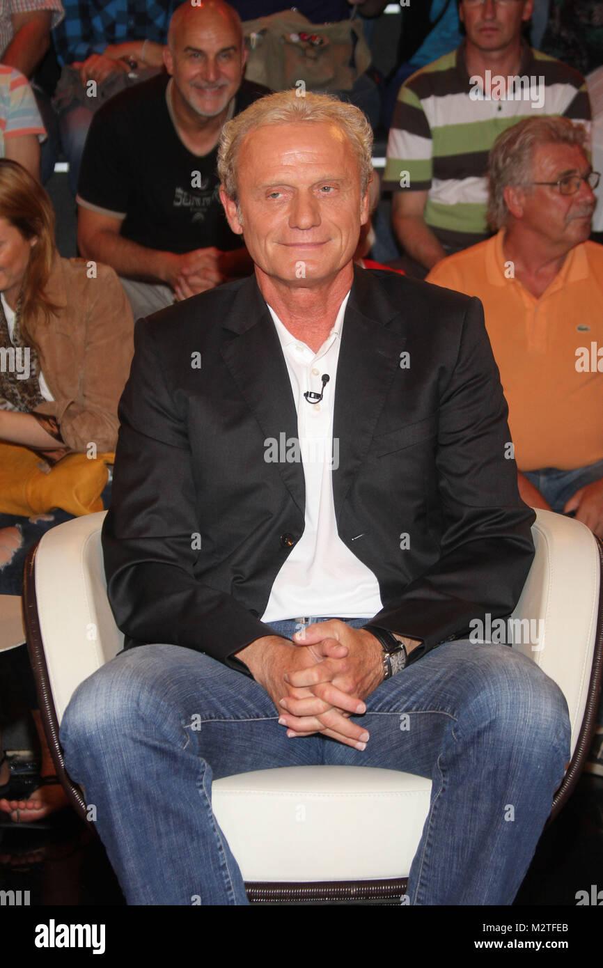 Hans-Peter Briegel (ehemaliger Fußballspieler), Lanz, Sendung vom 01.07.2012, Hamburg - Stock Image