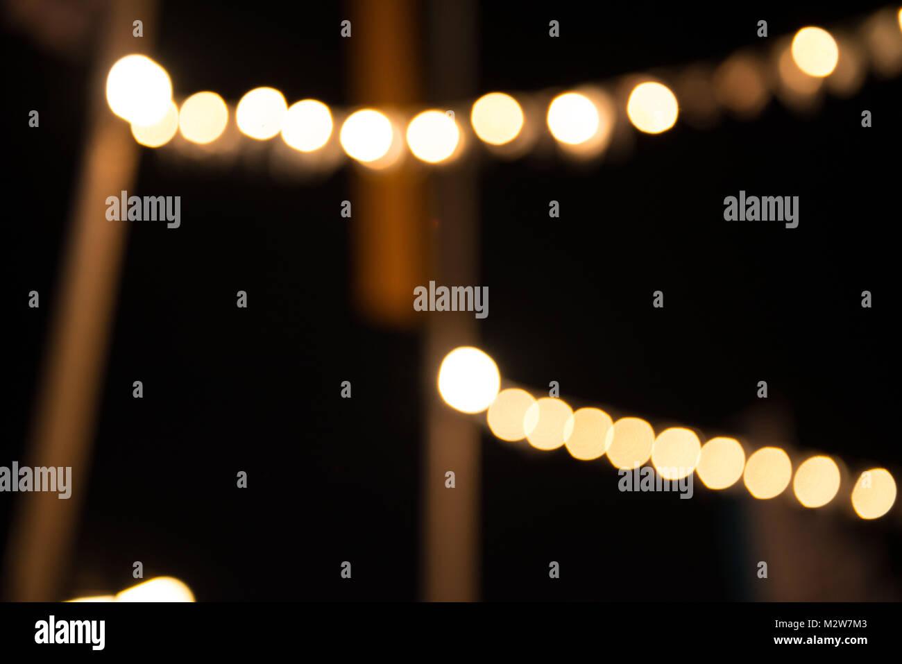 Oktoberfest, 'Wiesn' by night, lights - Stock Image