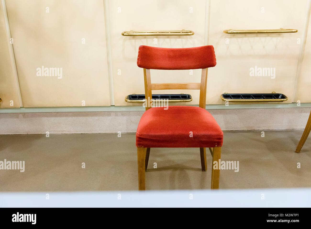 Red Velvet Chair, Interior   Stock Image