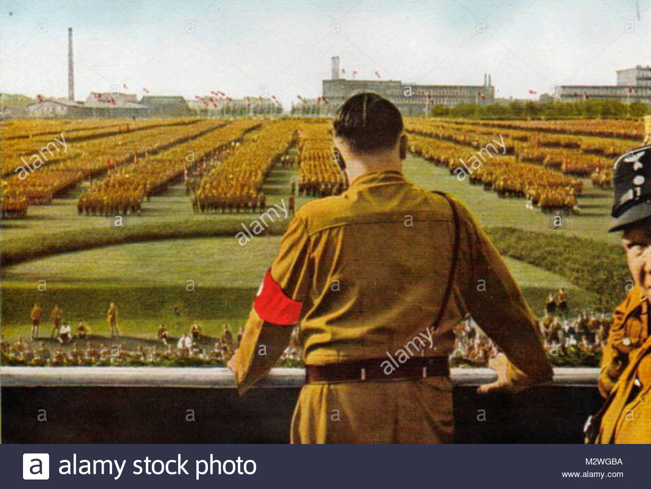 Adolf Hitler At a Nazi rally - Stock Image