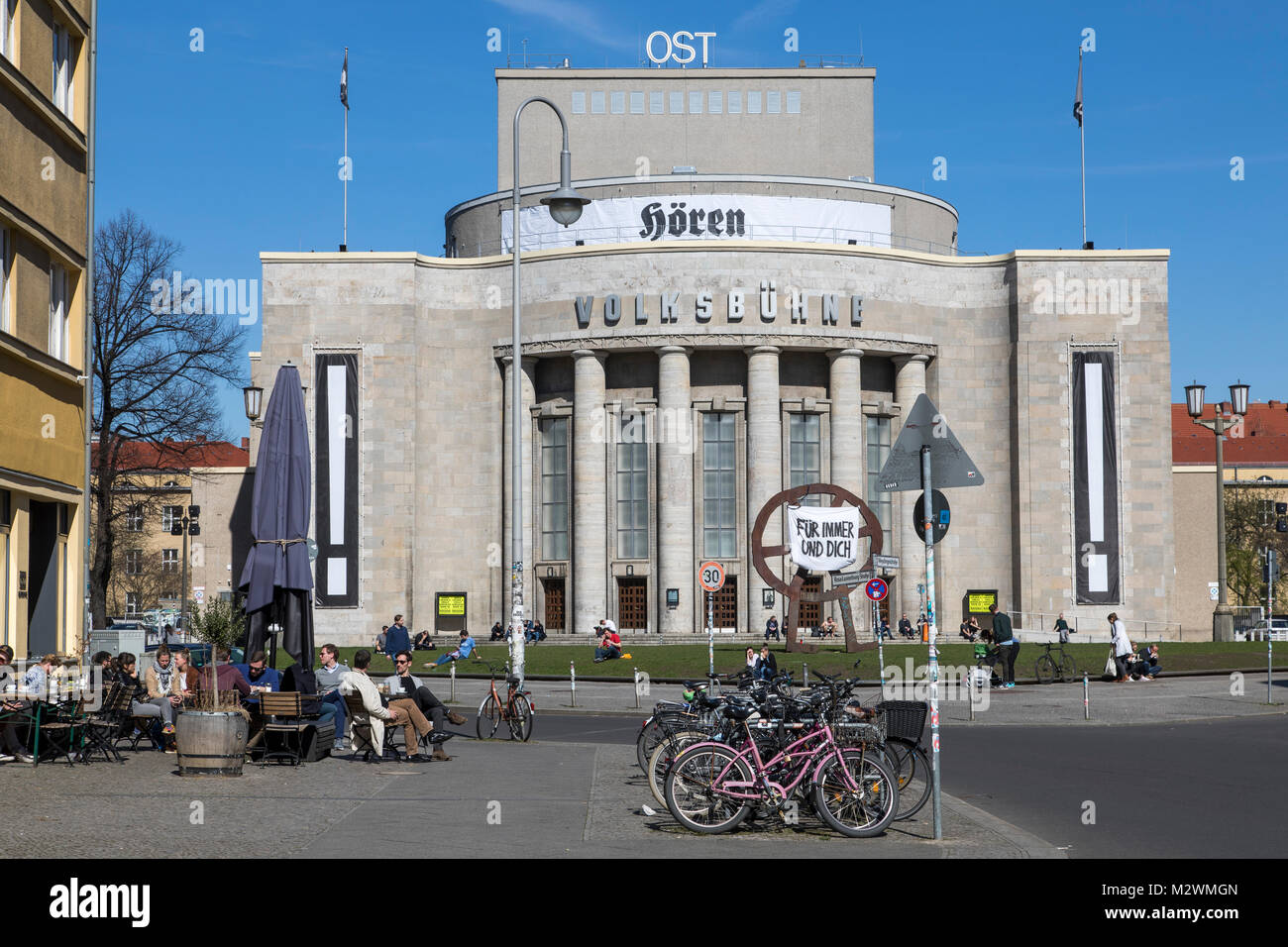 VolksbŸhne theatre at Rosa-Luxemburg-Platz, Berlin,Germany - Stock Image