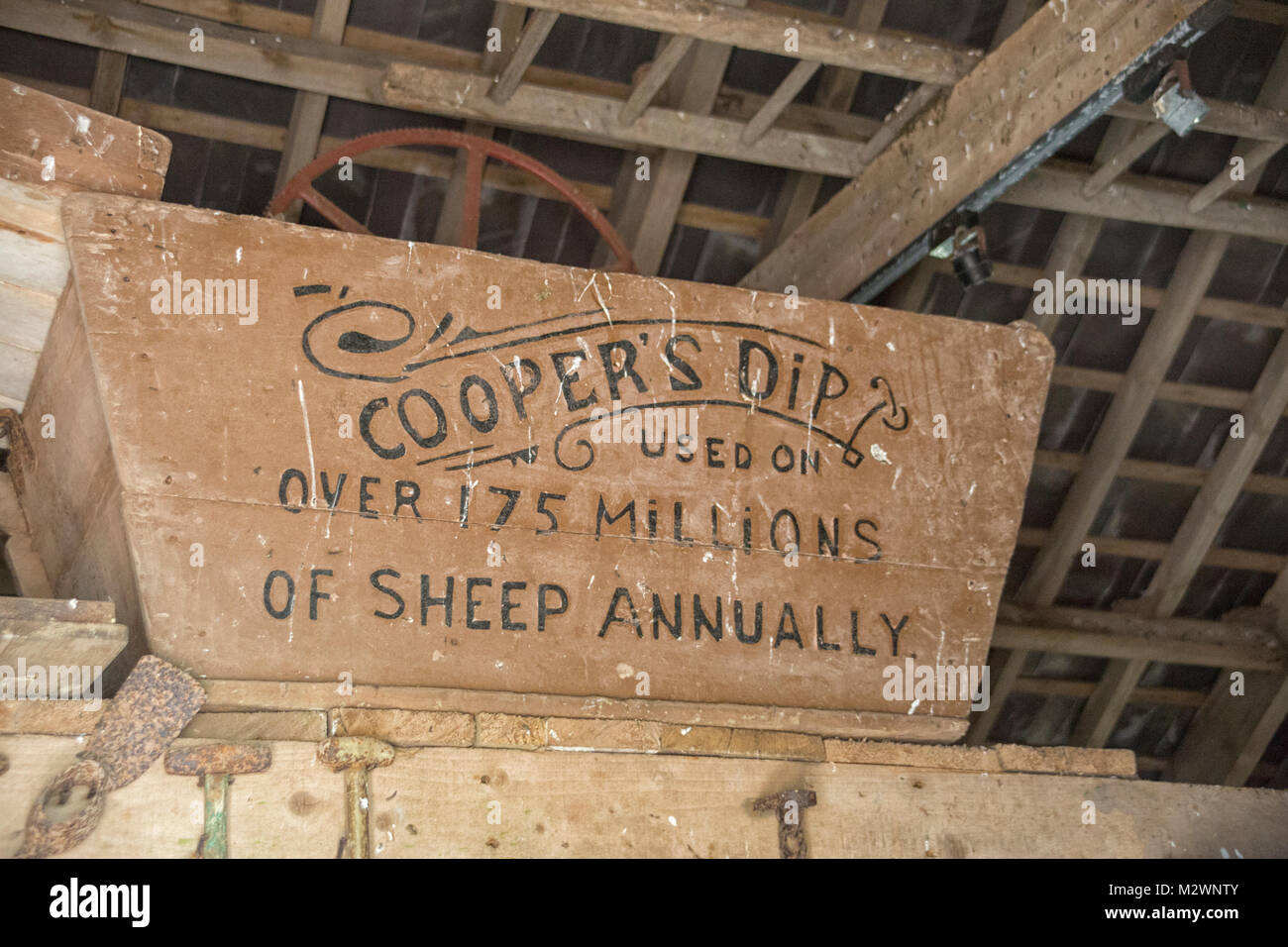 Cooper's dip is one of the best ancient sheep dips made in England in 1852. - Stock Image